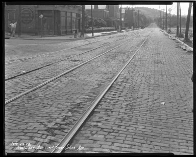 Street Improvement Photographs -- Box 47, Folder 16 (Westwood Avenue) -- negative, 1928-07-23