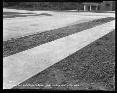 Street Improvement Photographs -- Box 47, Folder 23 (Wieman Avenue) -- negative, 1927-07-07