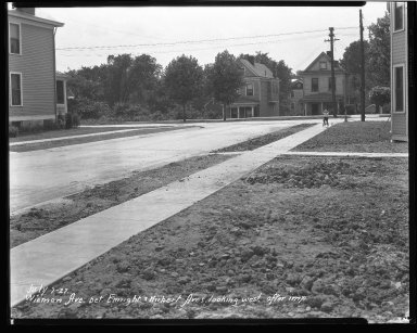Street Improvement Photographs -- Box 47, Folder 23 (Wieman Avenue) -- negative, 1927-07-07