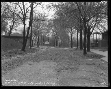 Street Improvement Photographs -- Box 47, Folder 27 (Wilson Avenue) -- negative, 1929-04-10
