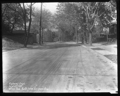 Street Improvement Photographs -- Box 47, Folder 27 (Wilson Avenue) -- negative, 1929-09-27