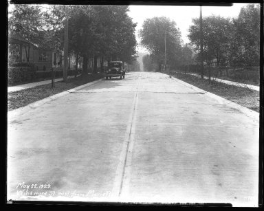 Street Improvement Photographs -- Box 47, Folder 30 (Windward Street) -- negative, 1929-05-22