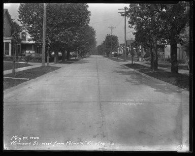 Street Improvement Photographs -- Box 47, Folder 30 (Windward Street) -- negative, 1929-05-22