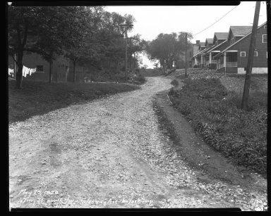 Street Improvement Photographs -- Box 47, Folder 31 (Wing Street) -- negative, 1929-05-20