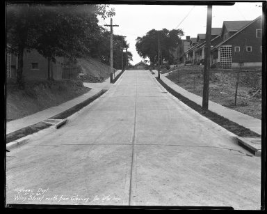 Street Improvement Photographs -- Box 47, Folder 31 (Wing Street) -- negative, 1930-05-13