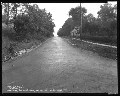 Street Improvement Photographs -- Box 47, Folder 36 (Woodburn Avenue) -- negative, 1930-08-23
