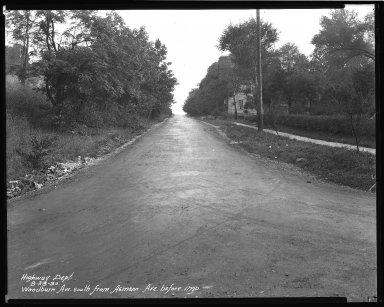 Street Improvement Photographs -- Box 47, Folder 36 (Woodburn Avenue) -- negative, 1930-08-23