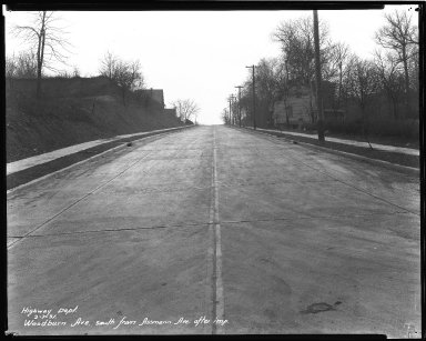 Street Improvement Photographs -- Box 47, Folder 36 (Woodburn Avenue) -- negative, 1931-02-07