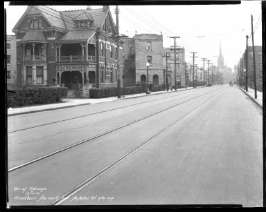 Street Improvement Photographs -- Box 47, Folder 36 (Woodburn Avenue) -- negative, 1931-12-15