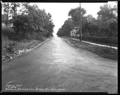 Street Improvement Photographs -- Box 47, Folder 37 (Woodburn Avenue) -- negative, 1930-08-23