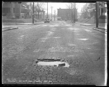 Street Improvement Photographs -- Box 47, Folder 37 (Woodburn Avenue) -- negative, 1928-01-09