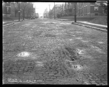 Street Improvement Photographs -- Box 47, Folder 37 (Woodburn Avenue) -- negative, 1928-01-09