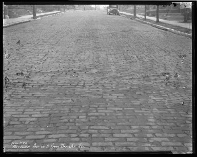 Street Improvement Photographs -- Box 47, Folder 38 (Woodburn Avenue) -- negative, 1928-01-09