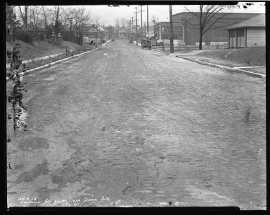 Street Improvement Photographs -- Box 47, Folder 38 (Woodburn Avenue) -- negative, 1928-01-09