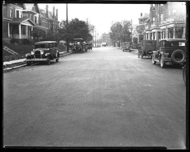 Street Improvement Photographs -- Box 47, Folder 39 (Woodburn Avenue) -- negative, 1928