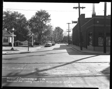 Street Improvement Photographs -- Box 47, Folder 41 (Woodmont Avenue) -- negative, 1946-10-22