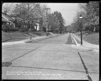 Street Improvement Photographs -- Box 47, Folder 41 (Woodmont Avenue) -- negative, 1946-10-22