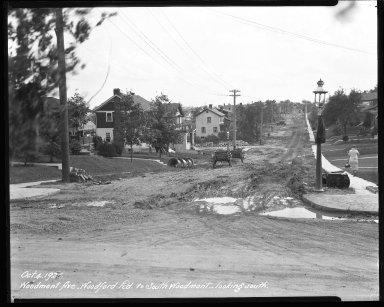 Street Improvement Photographs -- Box 47, Folder 42 (Woodmont Avenue) -- negative, 1926-10-04