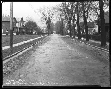 Street Improvement Photographs -- Box 47, Folder 45 (Woodsdale Avenue) -- negative, 1930-10-29