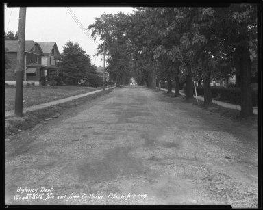 Street Improvement Photographs -- Box 47, Folder 45 (Woodsdale Avenue) -- negative, 1930-06-10