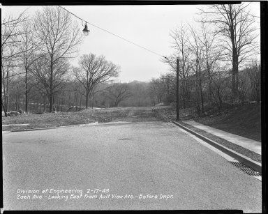 Street Improvement Photographs -- Box 47, Folder 52 (Zaeh Avenue) -- negative, 1949-02-17