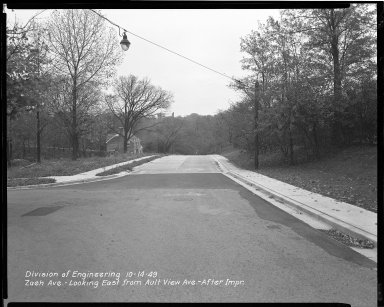 Street Improvement Photographs -- Box 47, Folder 52 (Zaeh Avenue) -- negative, 1949-10-14