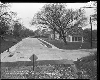 Street Improvement Photographs -- Box 47, Folder 52 (Zaeh Avenue) -- negative, 1949-10-14