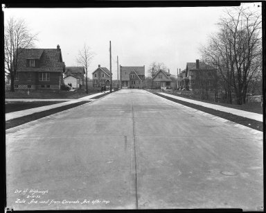 Street Improvement Photographs -- Box 47, Folder 55 (Zula Avenue) -- negative, 1932-02-15