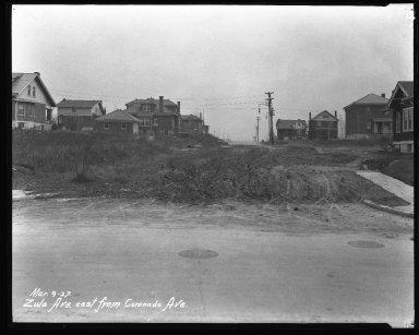 Street Improvement Photographs -- Box 47, Folder 55 (Zula Avenue) -- negative, 1927-03-09