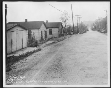 Street Improvement Photographs -- Box 48, Folder 01 (May 9, 1929) -- print, 1929-05-09