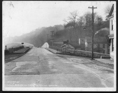 Street Improvement Photographs -- Box 48, Folder 12 (January 10, 1936 - January 15, 1936) -- print, 1936-01-10