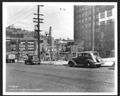 Street Improvement Photographs -- Box 48, Folder 24 (September 13, 1937 - September 16, 1937) -- print, 1937-09-13
