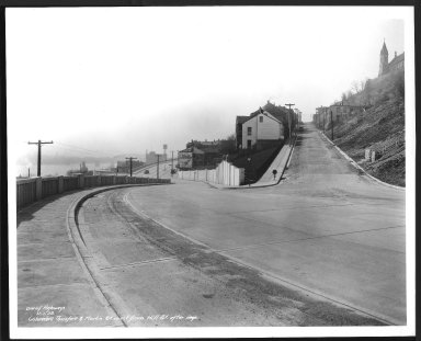 Street Improvement Photographs -- Box 48, Folder 34 (November 6, 1938 - November 7, 1938) -- print, 1938-11-07