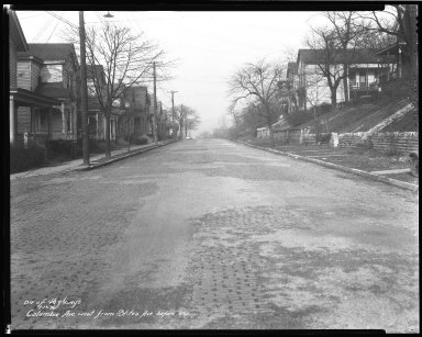 Street Improvement Photographs -- Box 50, Folder 03 (January 10, 1936 - January 15, 1936) -- negative, 1936-01-13