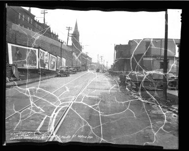 Street Improvement Photographs -- Box 50, Folder 08 (October 26, 1936) -- negative, 1936-10-26