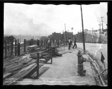 Street Improvement Photographs -- Box 50, Folder 13 (September 1, 1937 - September 3, 1937) -- negative, 1937-09-01
