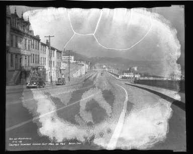 Street Improvement Photographs -- Box 50, Folder 26 (November 6, 1938 - November 7, 1938) -- negative, 1938-11-06