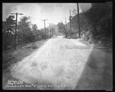 Street Improvement Photographs -- Box 51, Folder 01 (May 9, 1929) -- negative, 1929-05-09