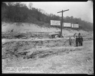 Street Improvement Photographs -- Box 51, Folder 02 (April 4, 1930 - April 10, 1930) -- negative, 1930-04-10