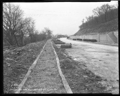 Street Improvement Photographs -- Box 51, Folder 07 (August 25, 1932 - December 9, 1932) -- negative, 1932-12-09