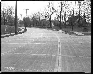 Street Improvement Photographs -- Box 51, Folder 11 (December 22, 1939) -- negative, 1939-12-22