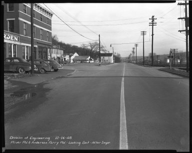 Street Improvement Photographs -- Box 51, Folder 14 (July 25, 1947 - December 16, 1948) -- negative, 1948-12-16