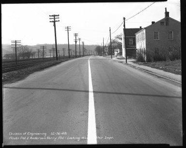 Street Improvement Photographs -- Box 51, Folder 14 (July 25, 1947 - December 16, 1948) -- negative, 1948-12-16