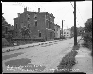Street Improvement Photographs -- Box 51, Folder 15 (June 29, 1949) -- negative, 1949-06-29