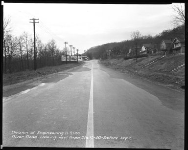 Street Improvement Photographs -- Box 51, Folder 17 (November 21, 1950) -- negative, 1950-11-21