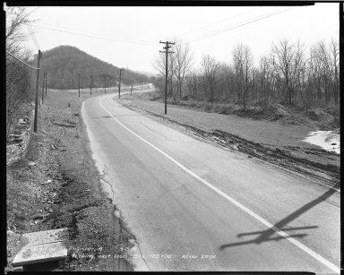 Street Improvement Photographs -- Box 51, Folder 20 (March 8, 1952) -- negative, 1951-03-08