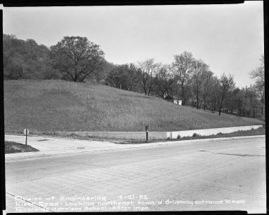 Street Improvement Photographs -- Box 51, Folder 21 (April 21, 1952) -- negative, 1952-04-21