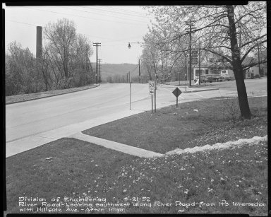 Street Improvement Photographs -- Box 51, Folder 21 (April 21, 1952) -- negative, 1952-04-21