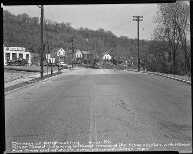 Street Improvement Photographs -- Box 51, Folder 22 (April 21, 1952) -- negative, 1952-04-21