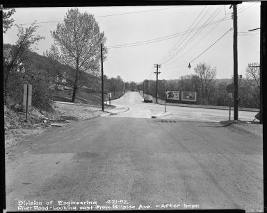 Street Improvement Photographs -- Box 51, Folder 22 (April 21, 1952) -- negative, 1952-04-21